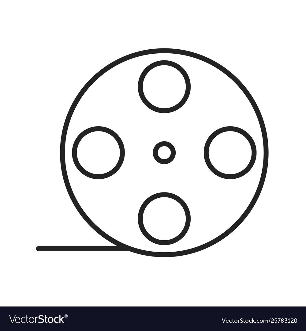 Film roll linear icon