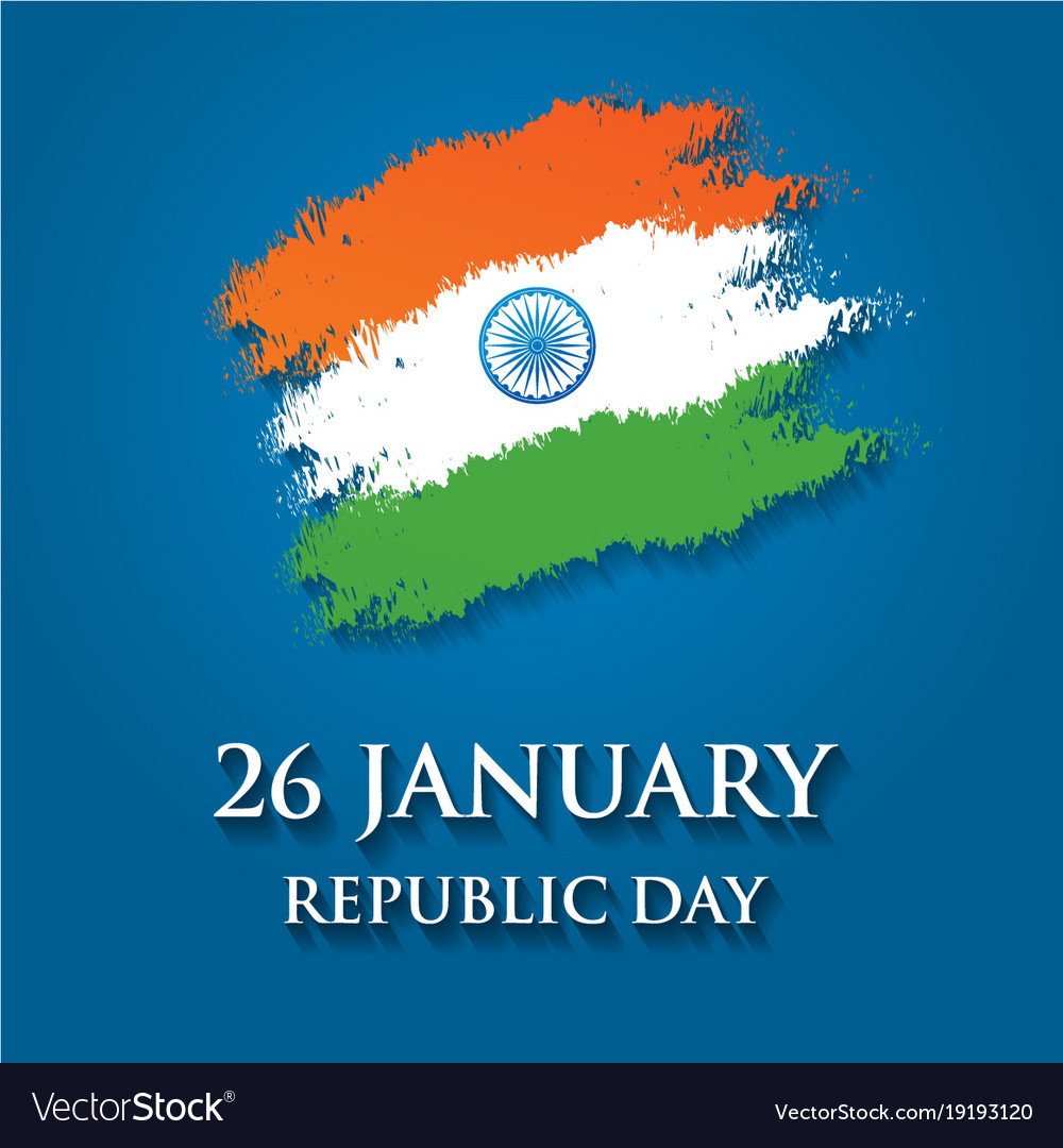 India republic day greeting card design 26 vector image m4hsunfo