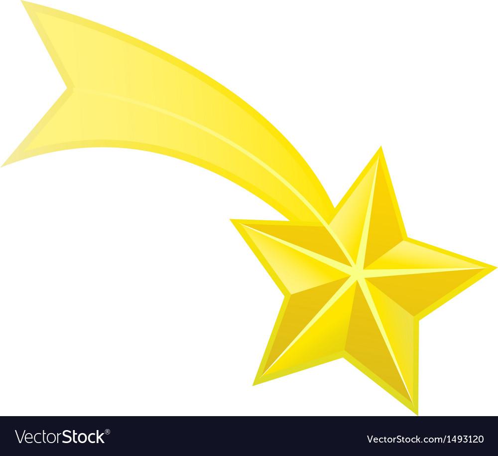 Shooting Star Royalty Free Vector Image Vectorstock