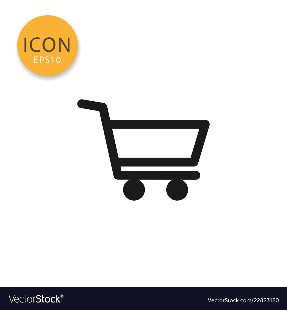 Shopping cart icon isolated flat style
