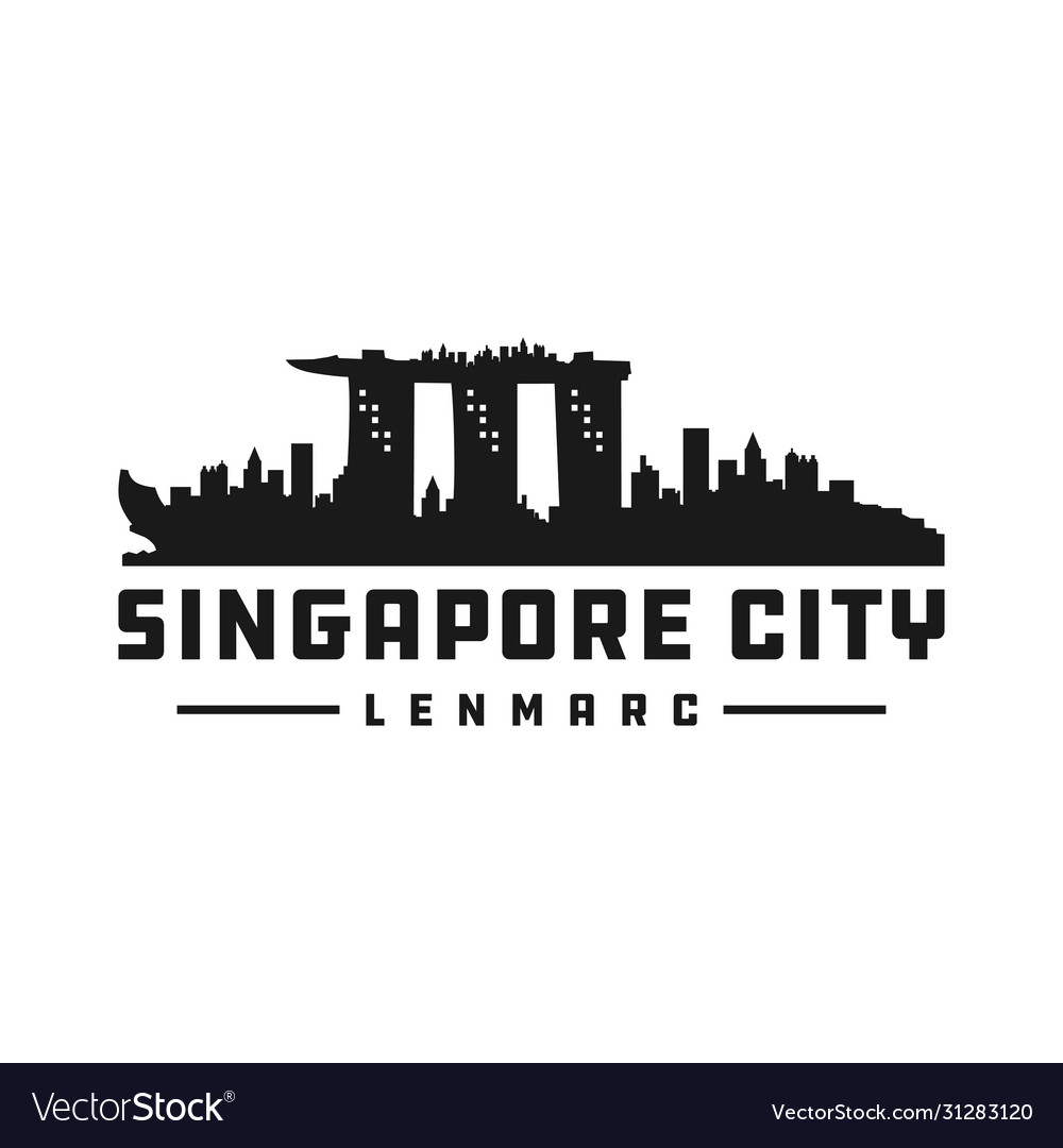 Singapore city silhouette logo