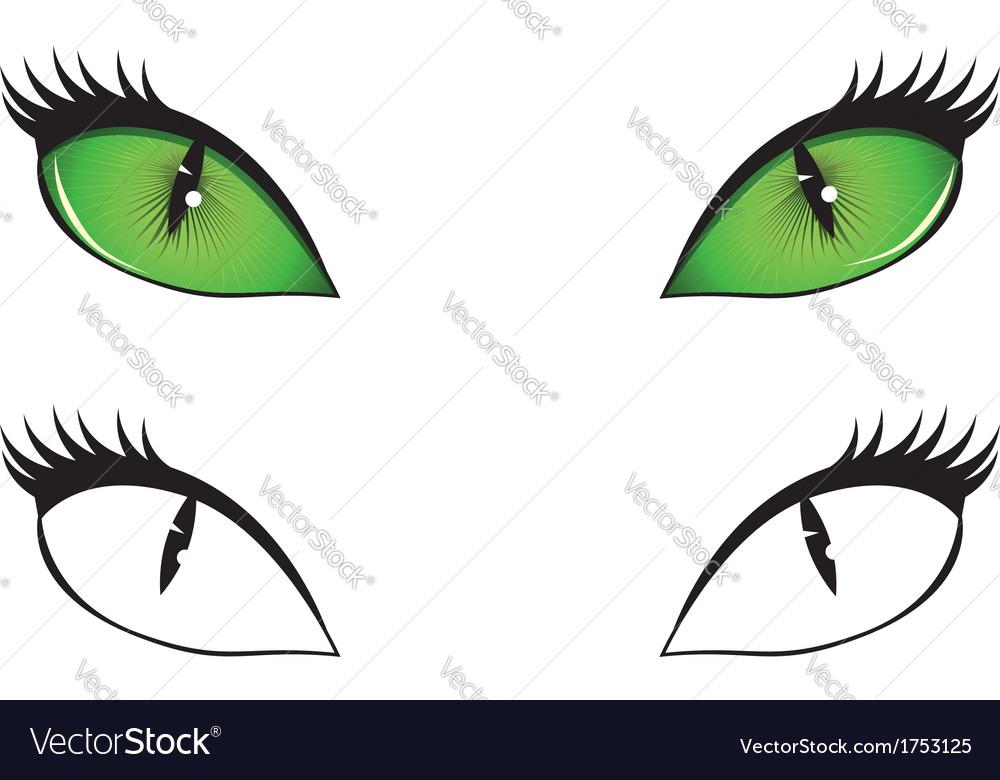 Cartoon cat eyes vector image