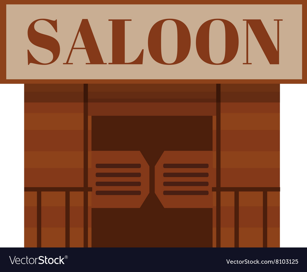 Conceptual cartoon western saloon representing mix