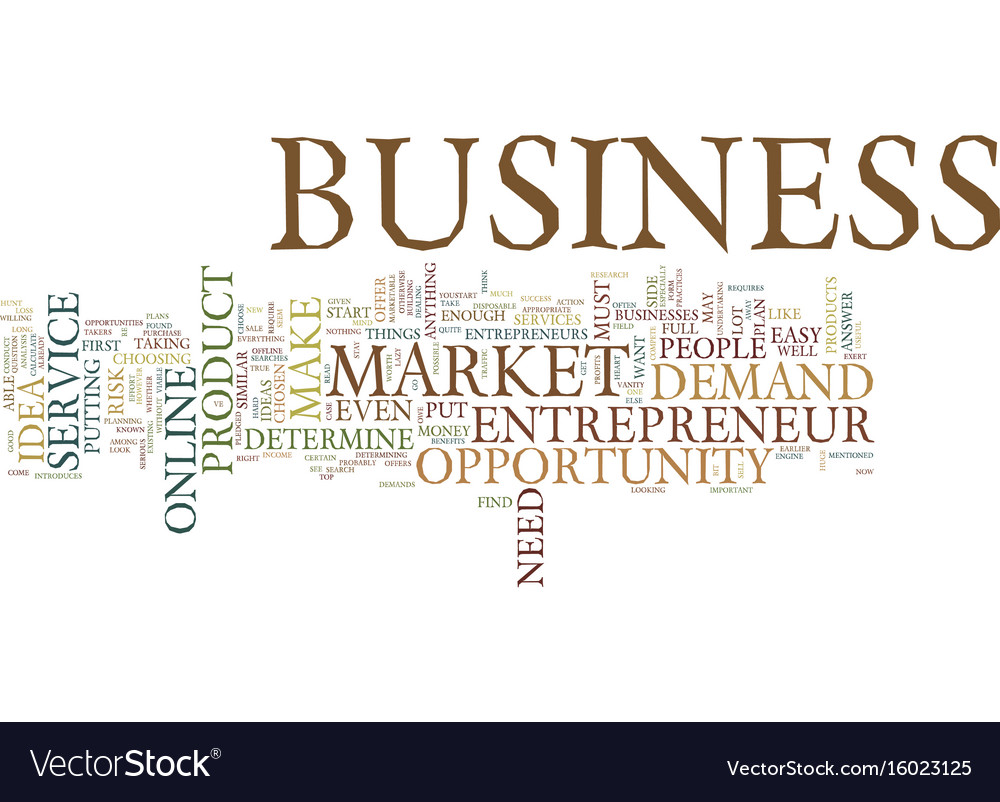Entrepreneur business opportunity text background vector image