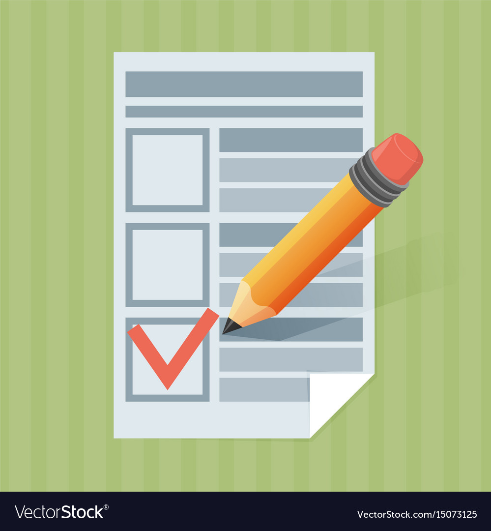 Form pencil and tick icon vector image