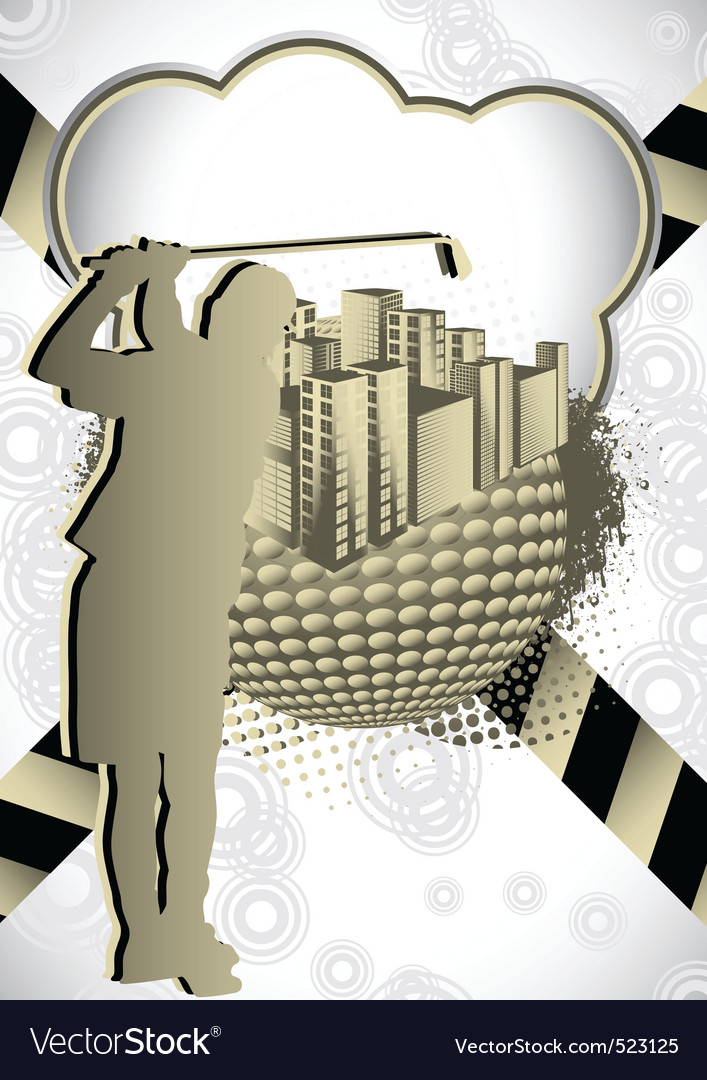 Golf summer abstract