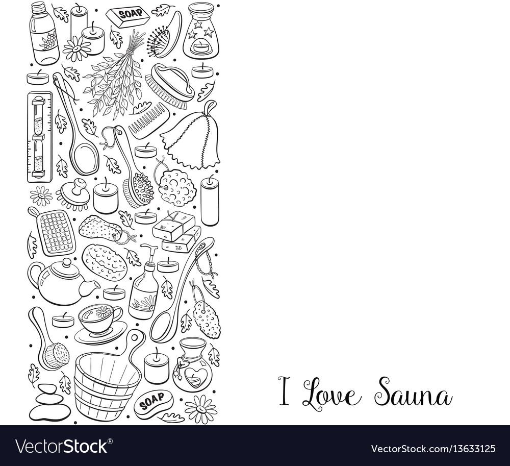 Sauna hand drawn