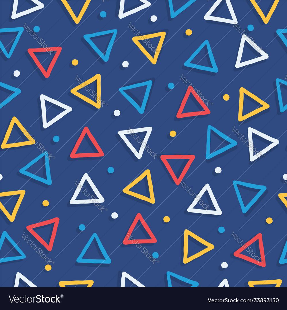 Colorful geometric shape retro seamless pattern