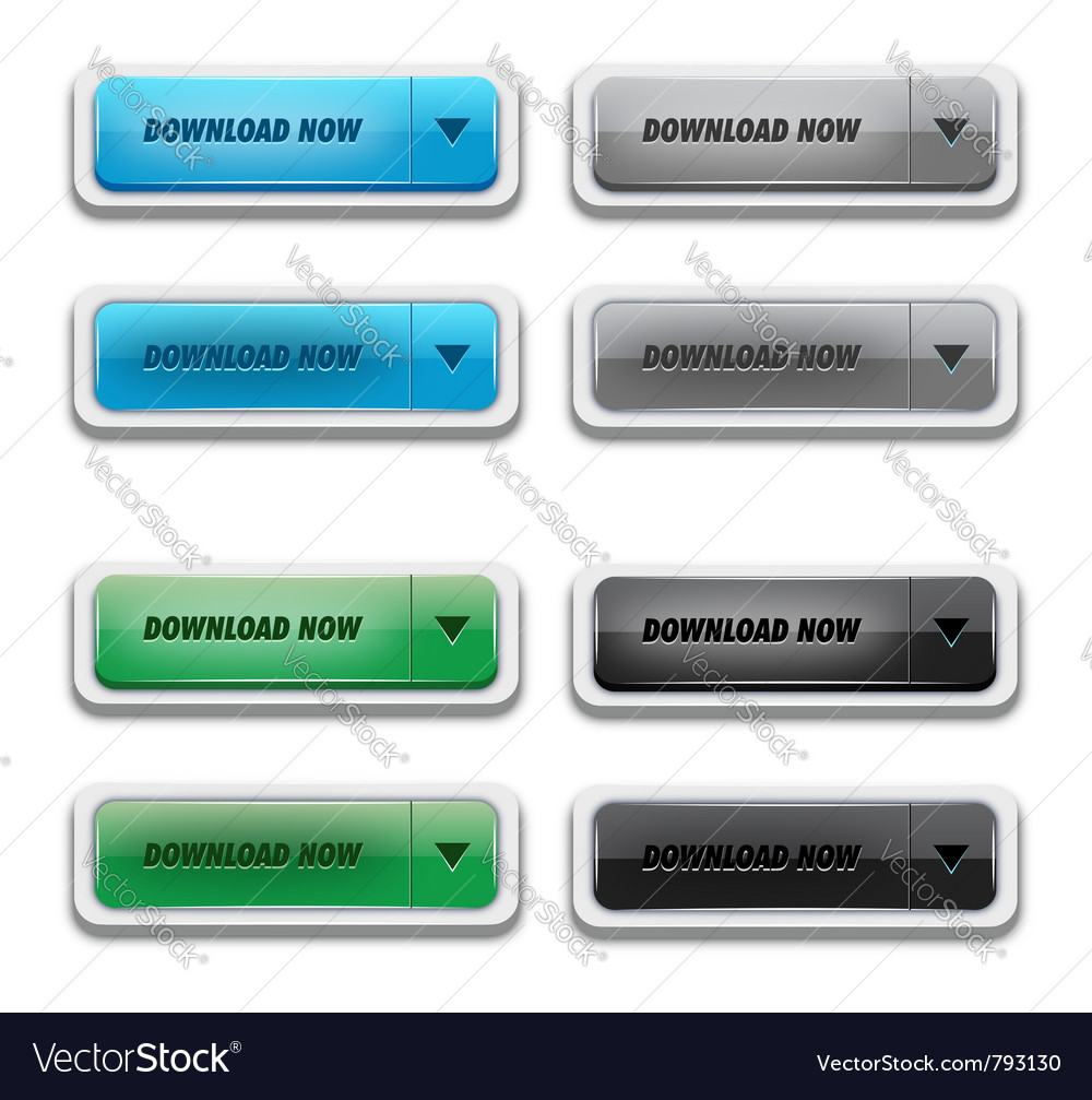 Download button set vector image