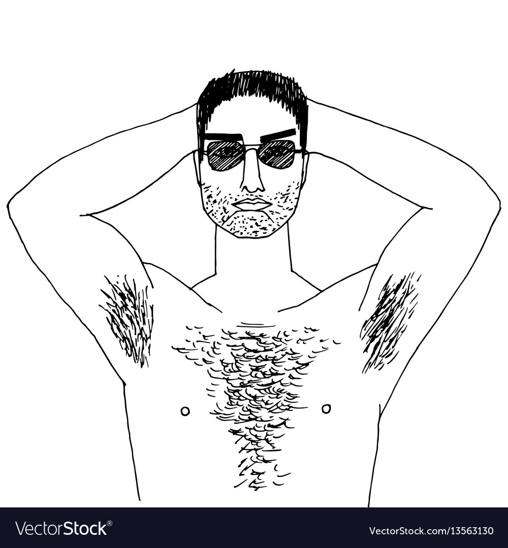 Join. man with beard hairy chest with you