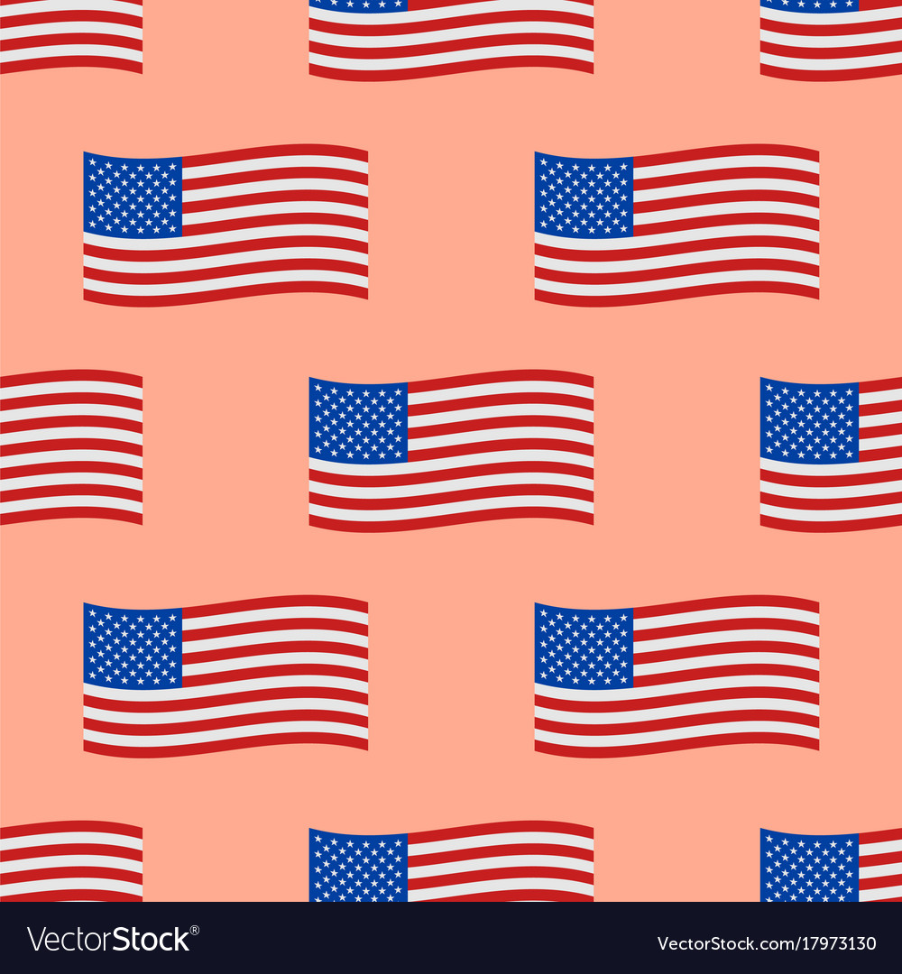 Independence day usa flags seamless pattern united