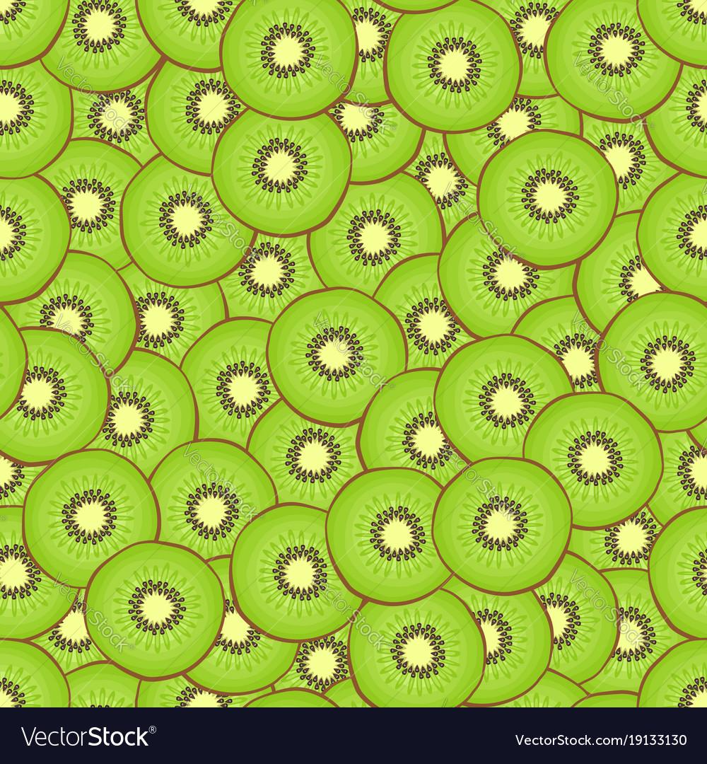 Kiwi seamless pattern