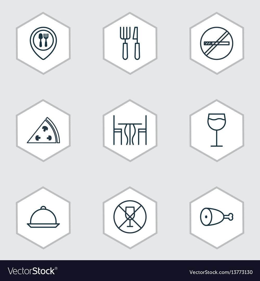 Set of 9 eating icons includes food mapping