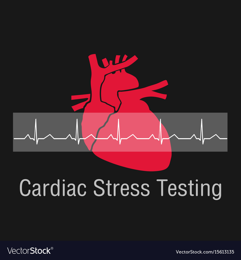 Cardiac stress testing logo icon design vector image