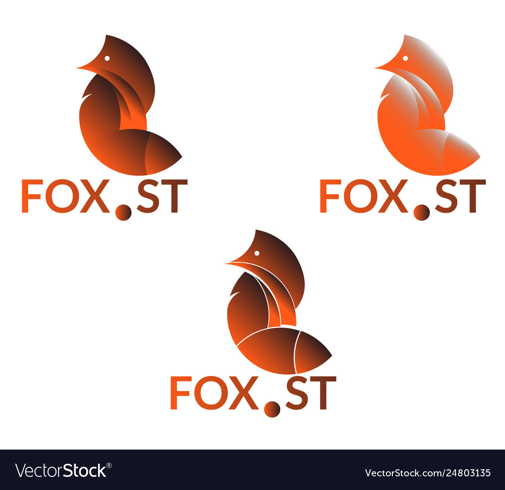 Company logo with fox