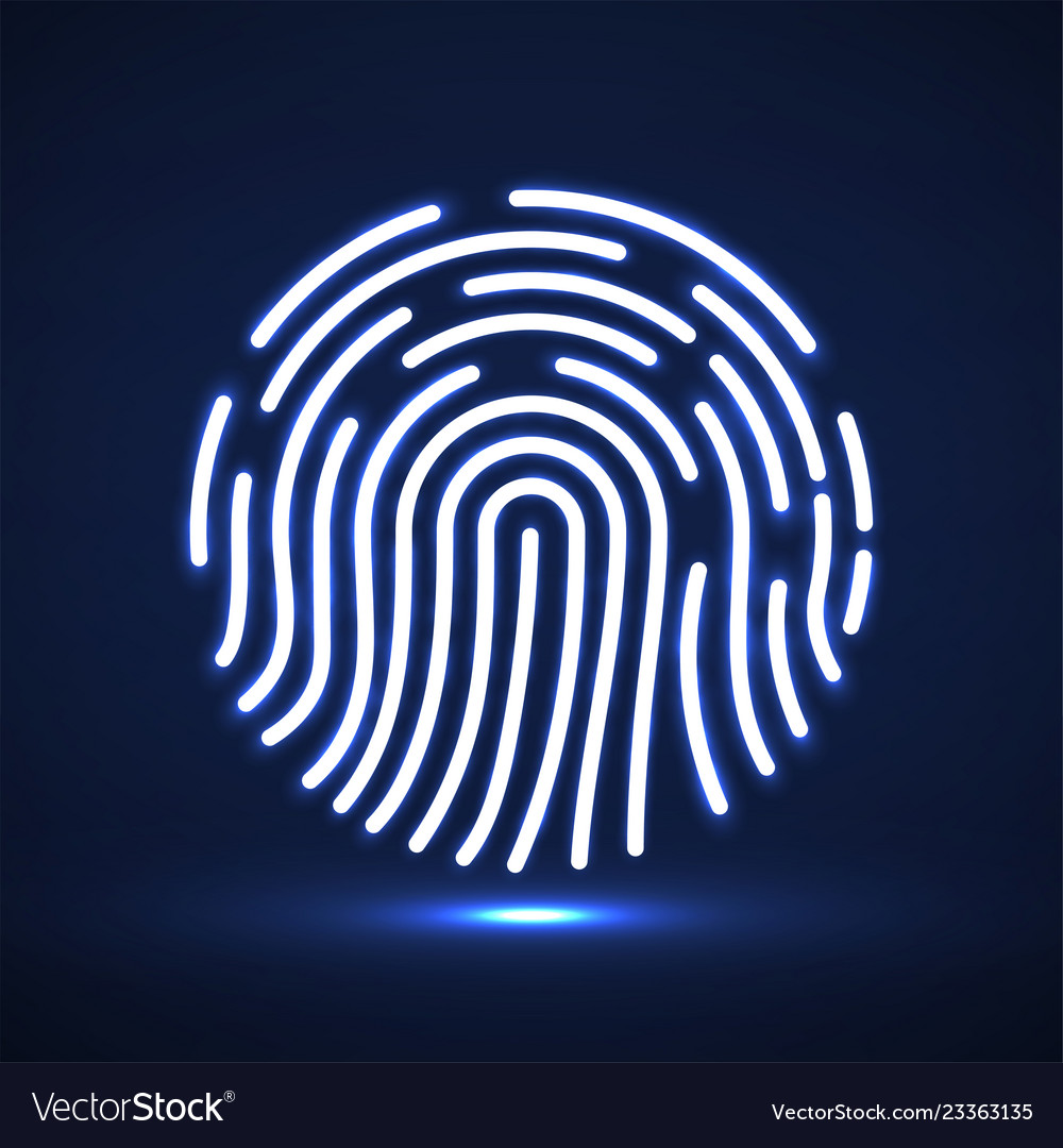 Fingerprint icon biometric identification symbol