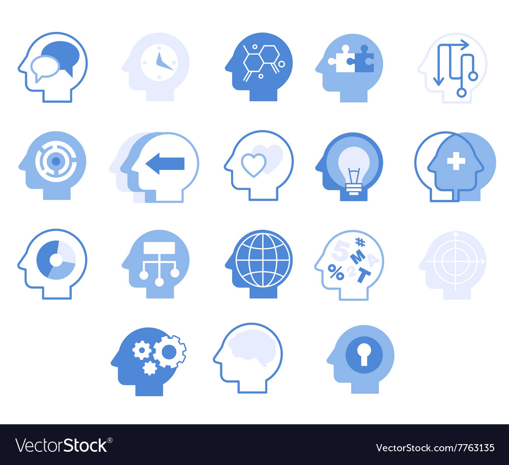 Head Silhouettes Set