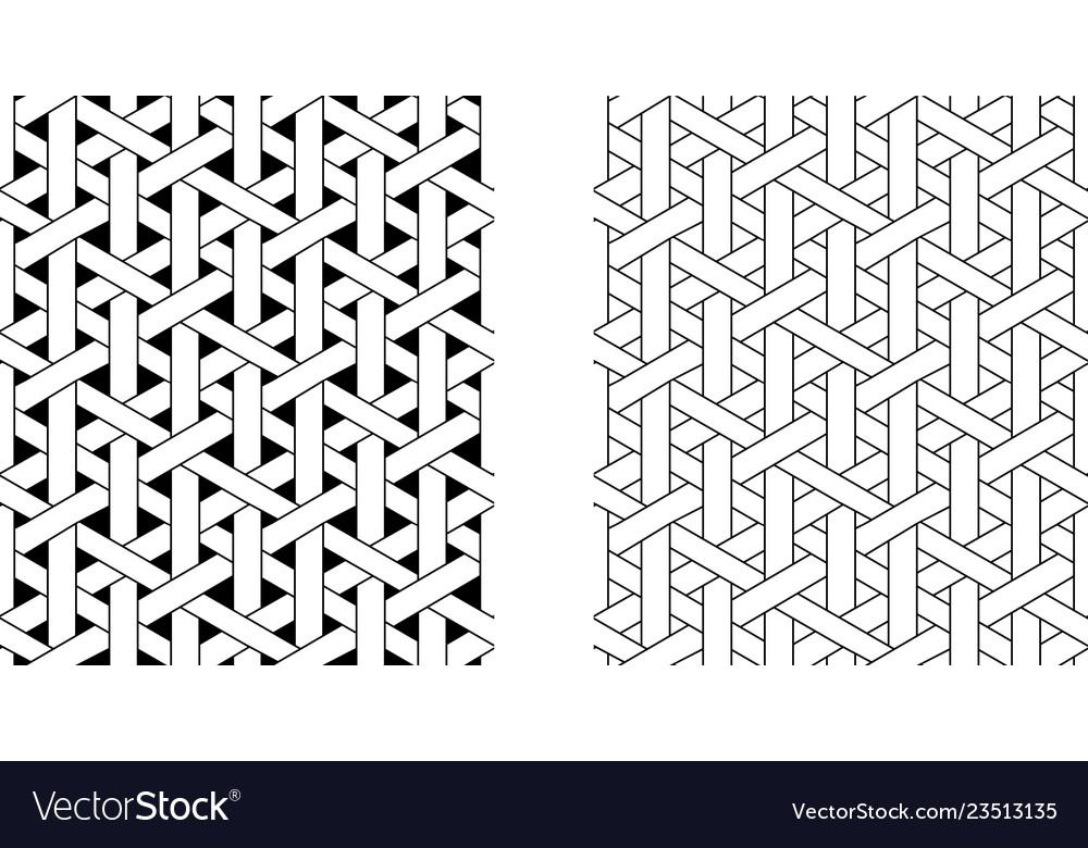 Outline seamless weave rattan pattern art