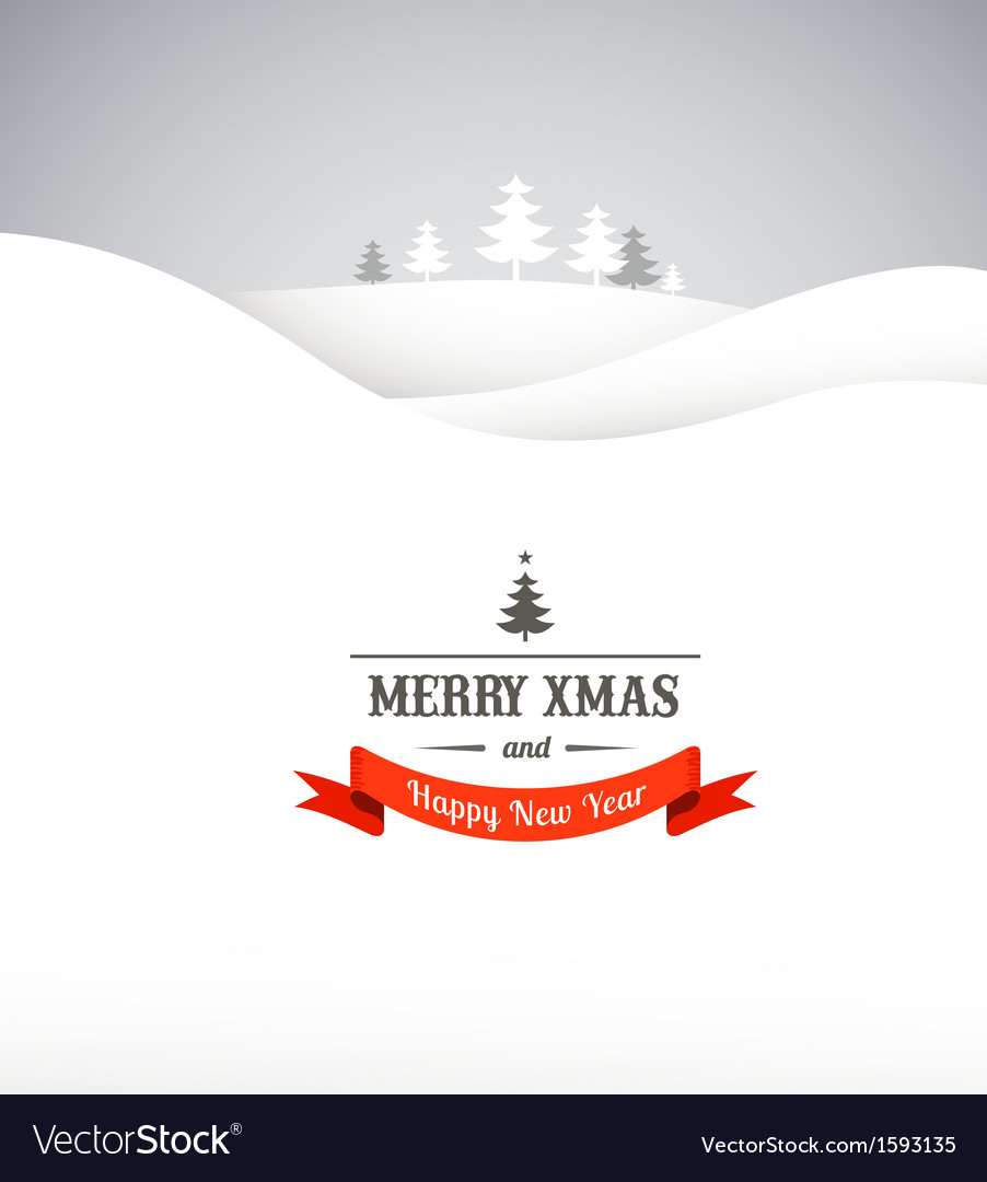 Vintage Xmas greeting card and background vector image