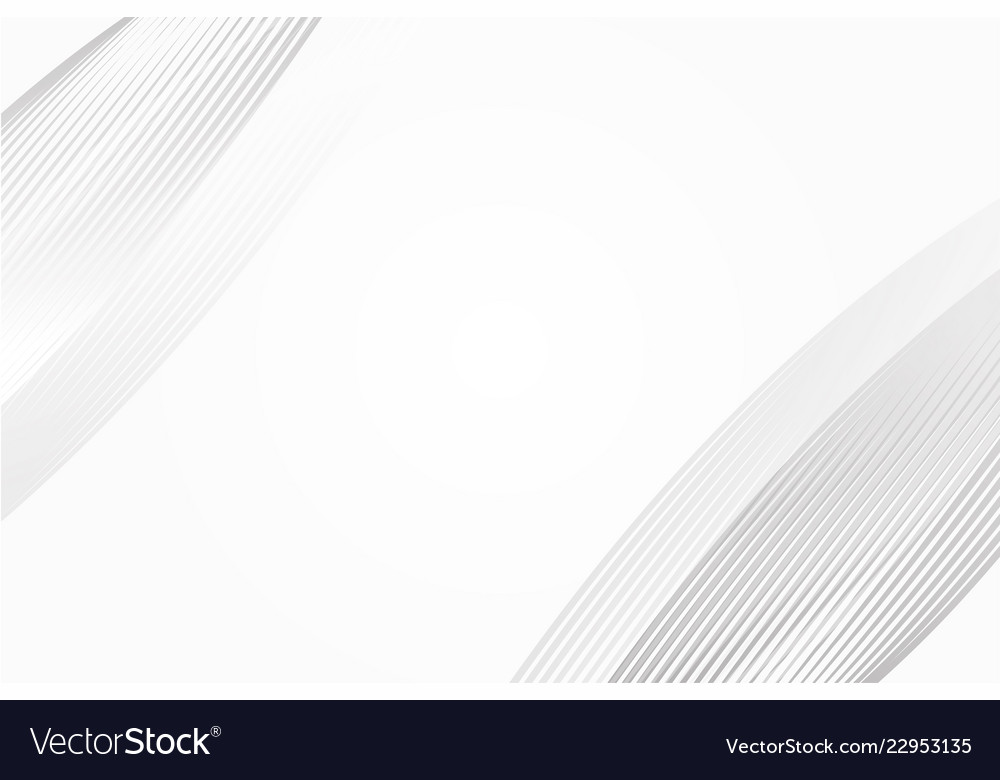 White and grey circular curve abstract background