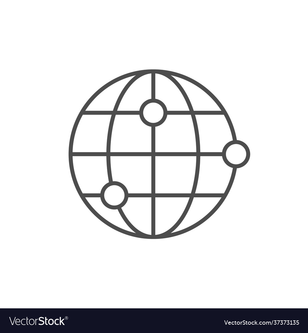 World location line outline icon