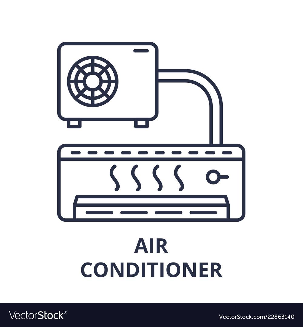 Air conditioner line icon concept air conditioner