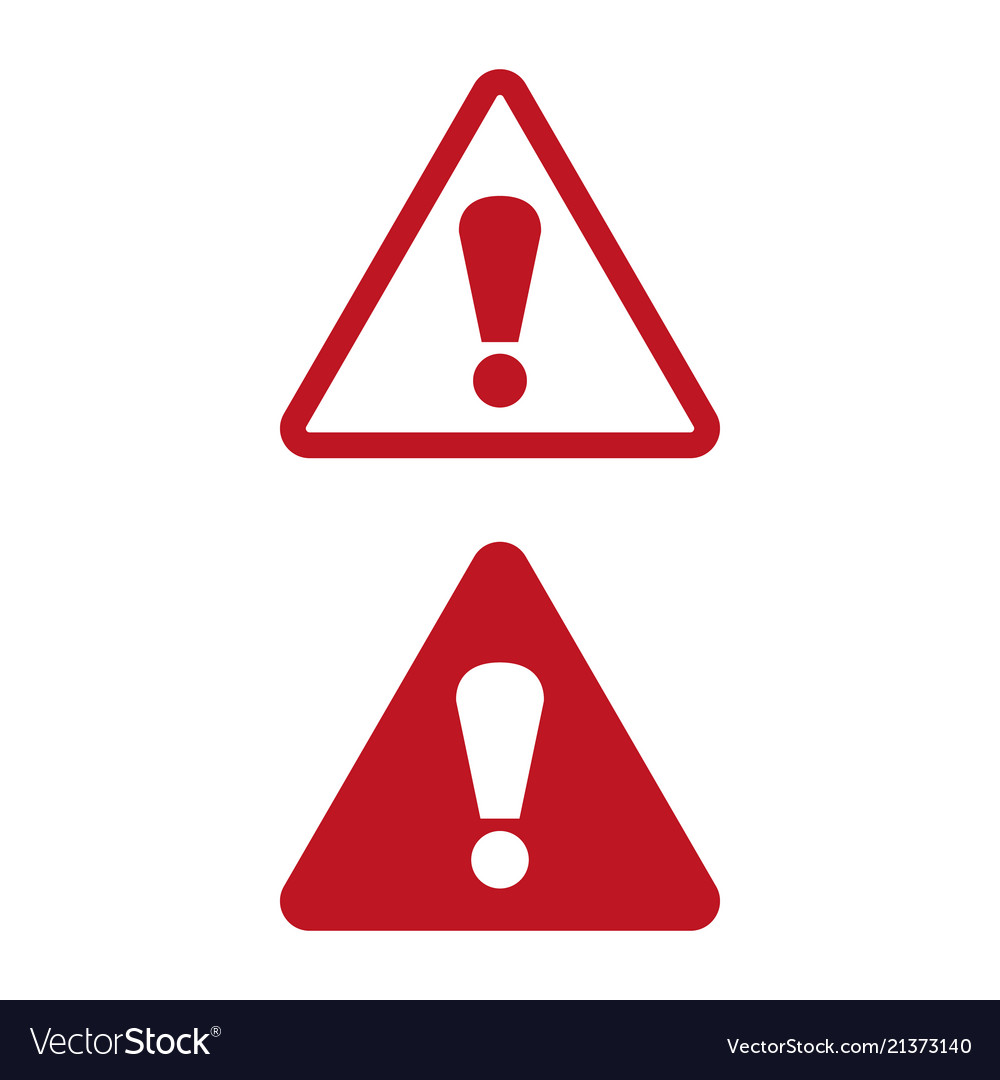 Attention icon on white background