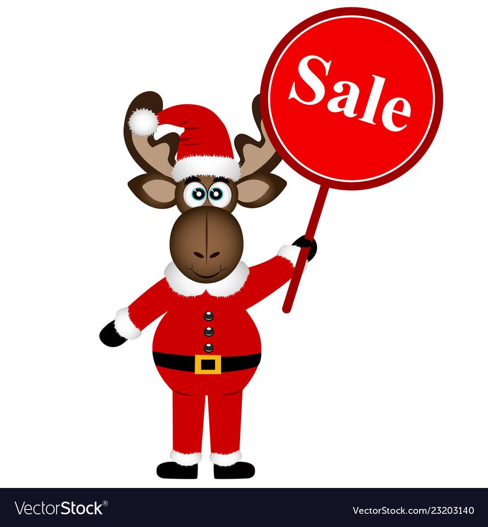 Christmas sale christmas elk with banner
