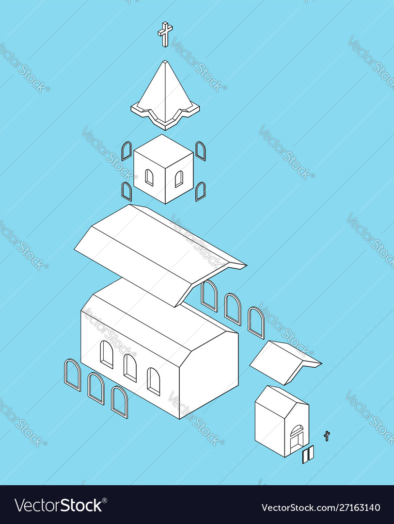 Church structure parts isometrics catholic