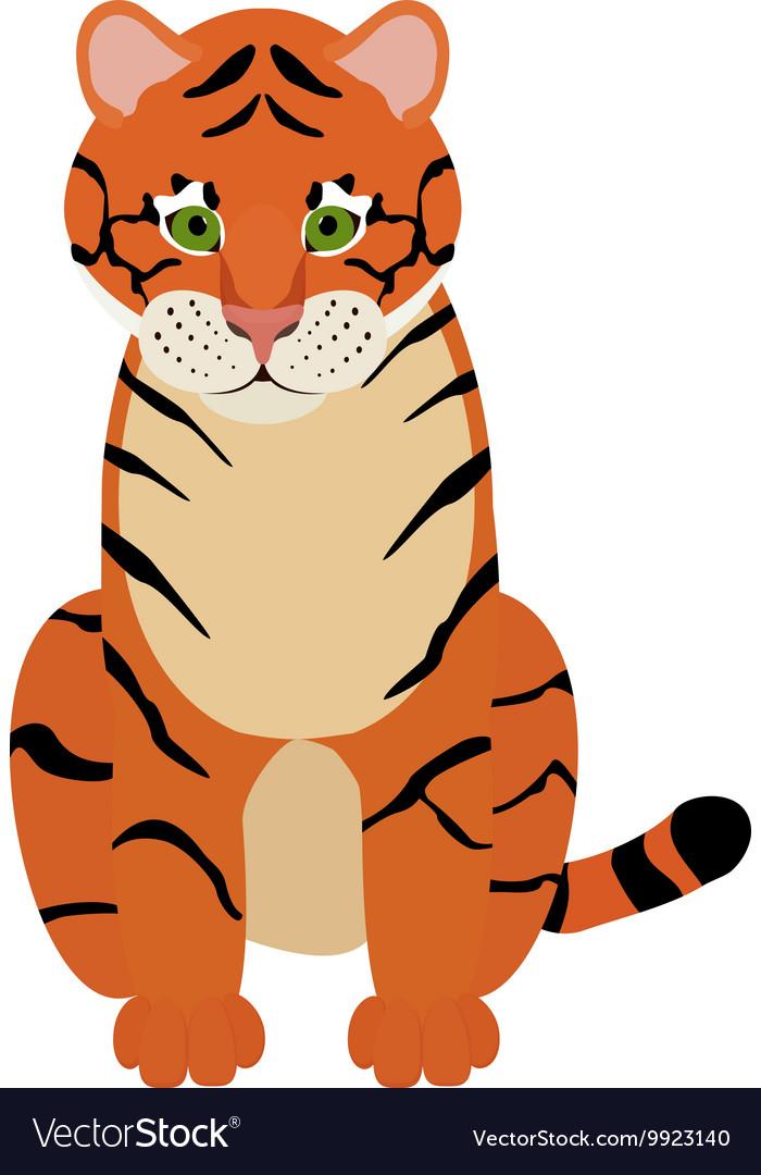 Fun cartoon of cute Tiger