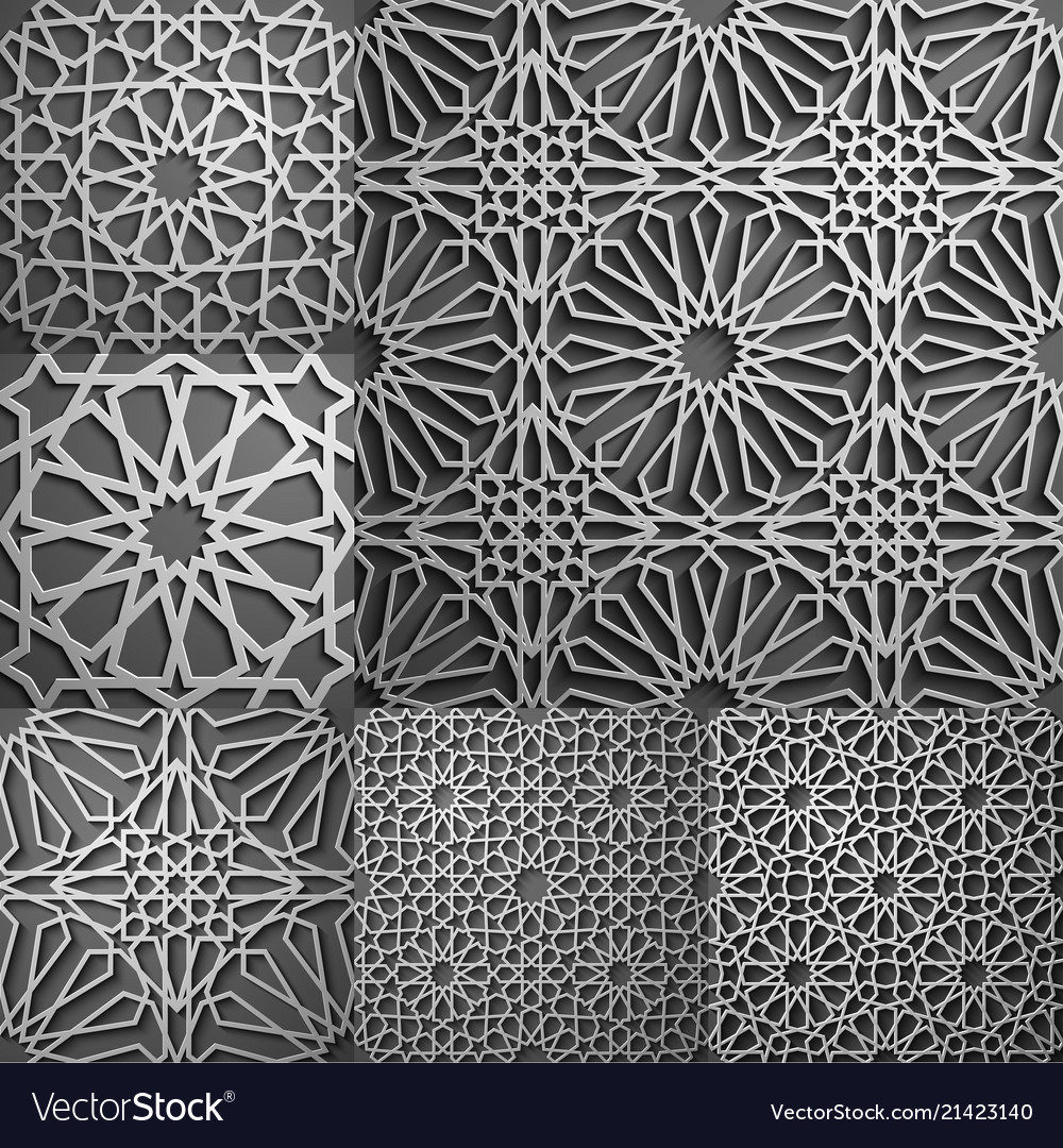 Islamic pattern seamless arabic geometric