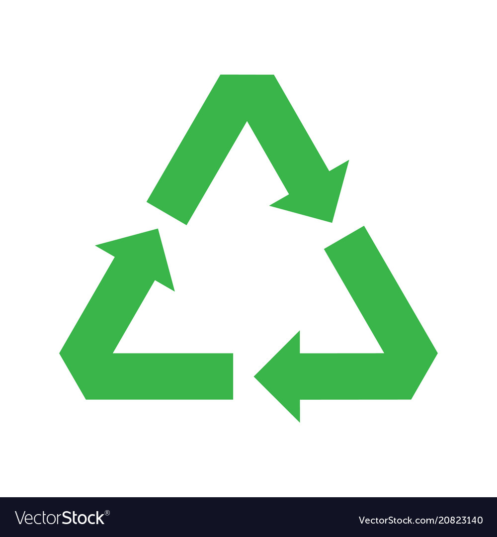 Recycle symbol recycle icon green icon vector image