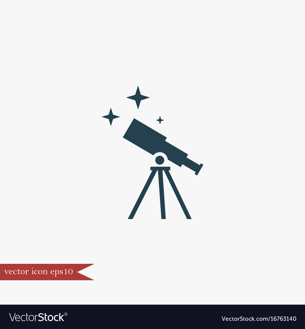 Telescope icon education