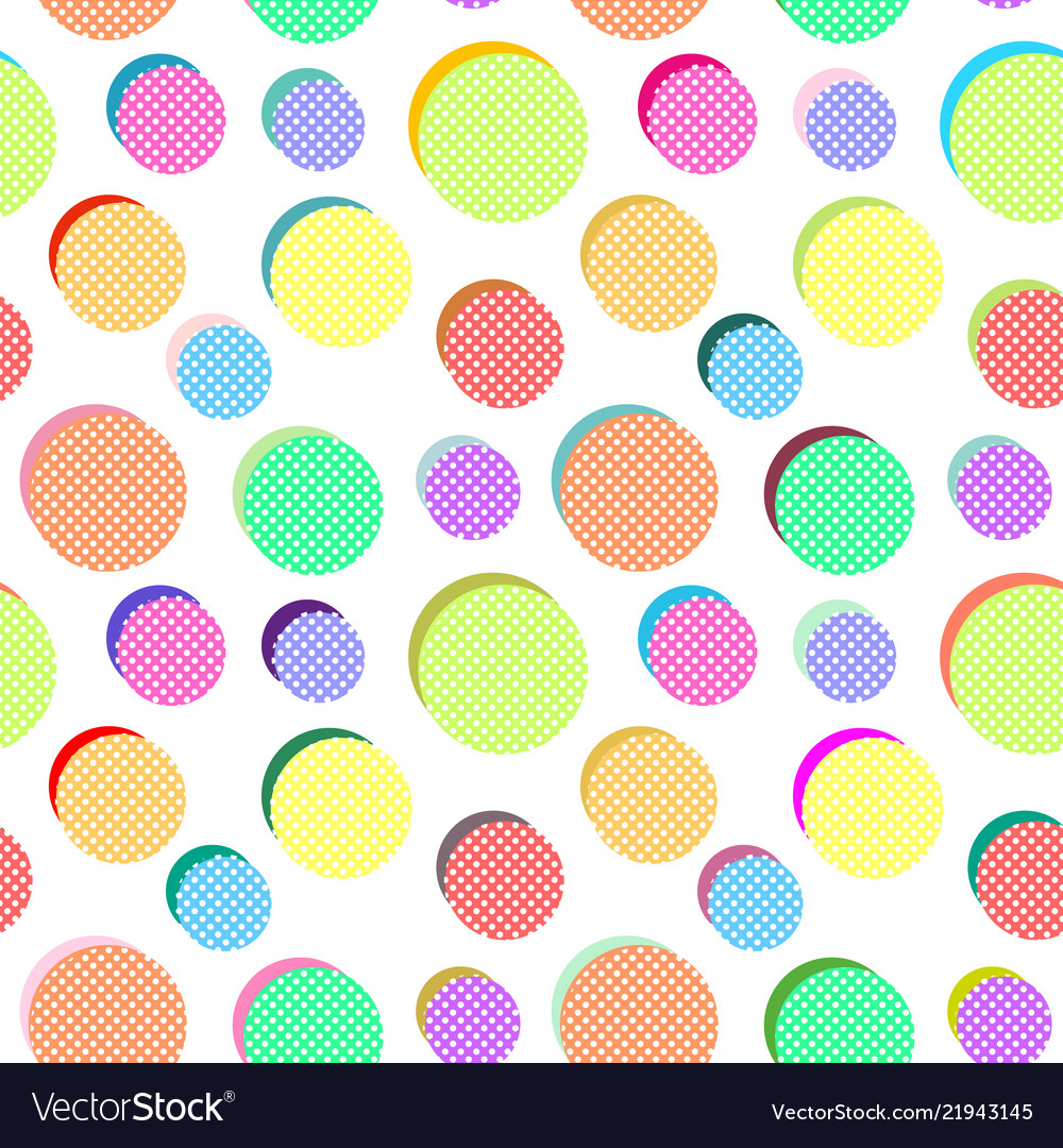 Abstract pattern with colored balls
