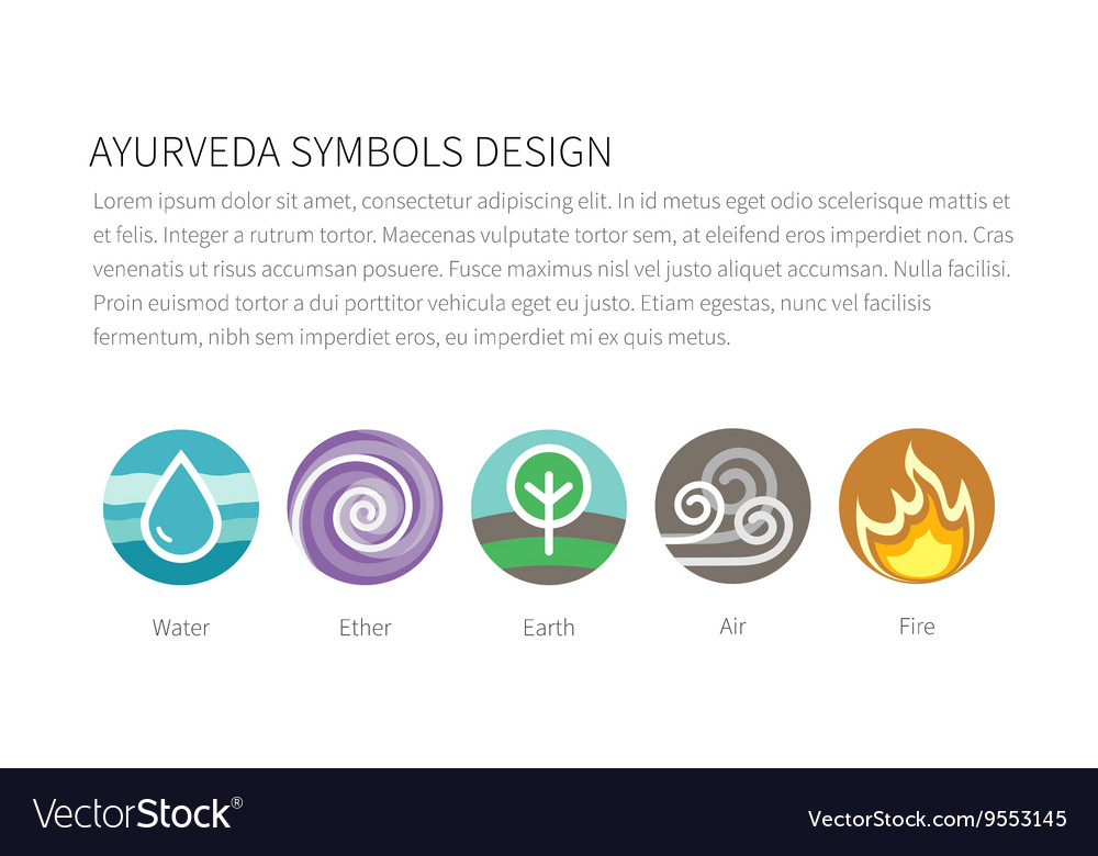 Elements Earth Wind Fire Water Vector Images 86
