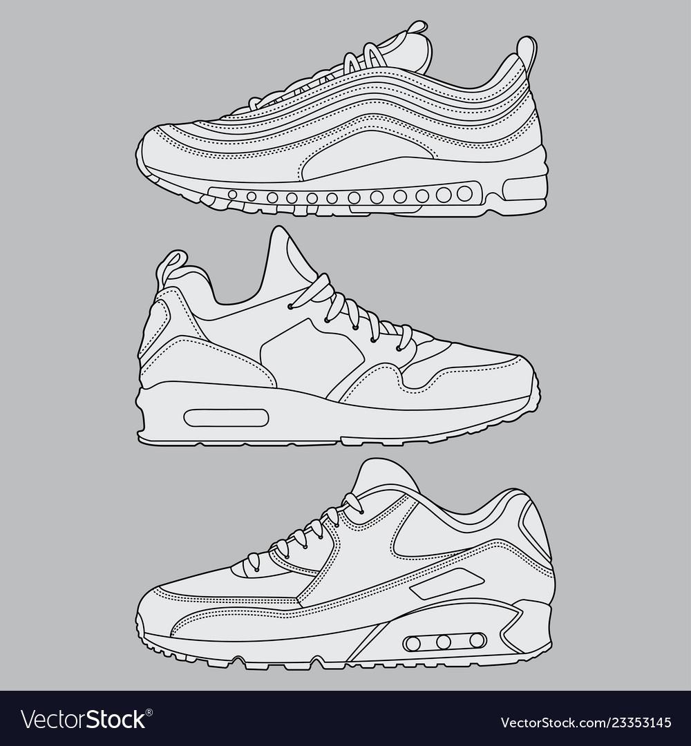 Draw sneaker set design