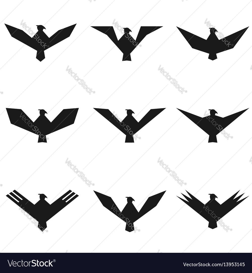 Eagle symbol set