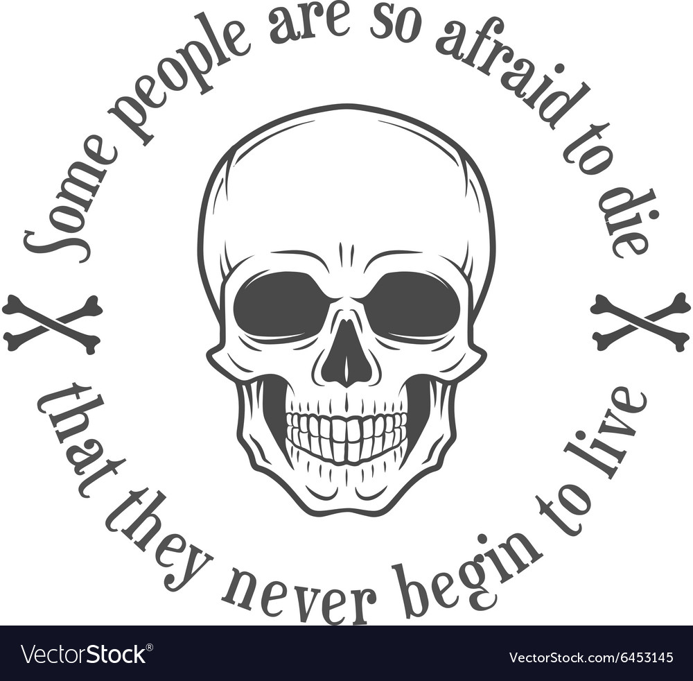 Human evil scull Death quote background