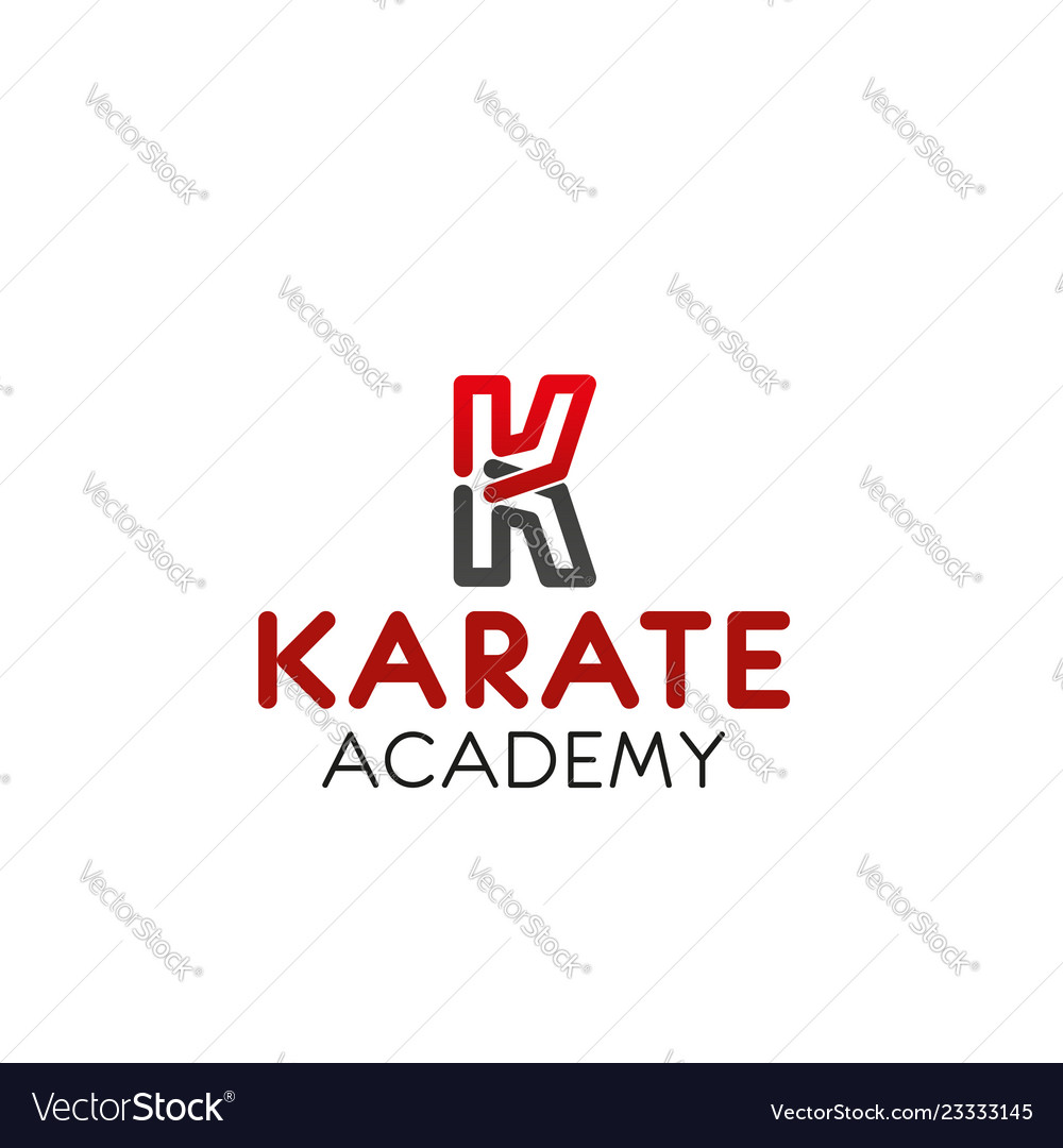 Karate academy letter k icon