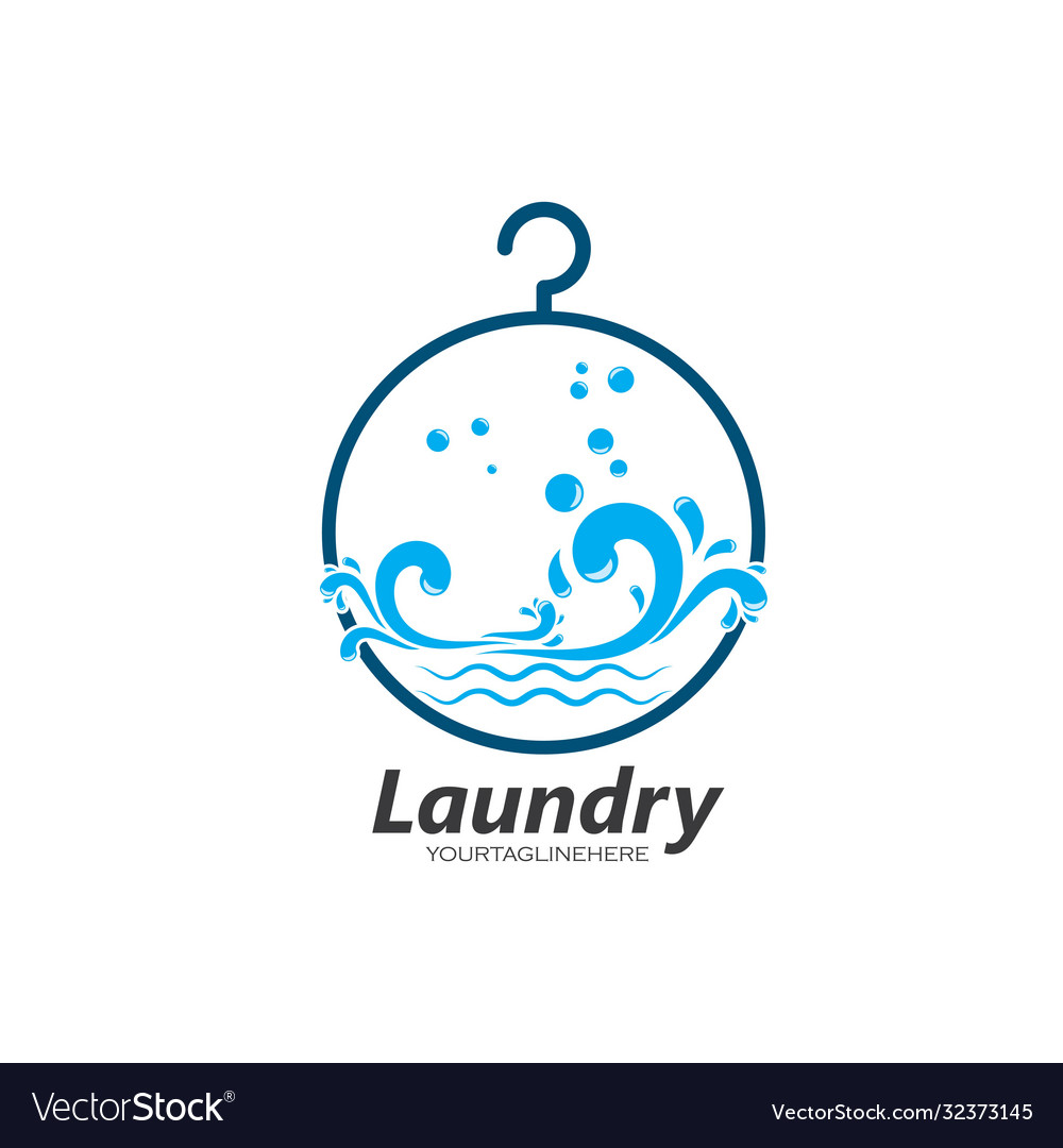 laundry logo icon design royalty free vector image laundry logo icon design royalty free vector image