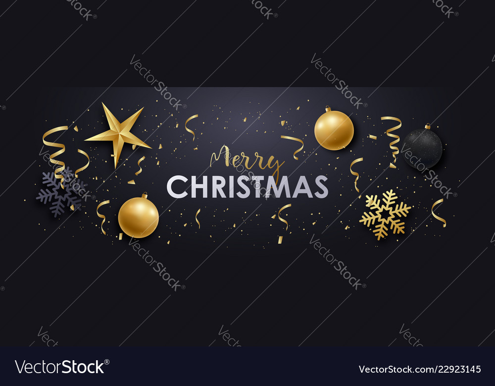 Merry christmas realistic banner design
