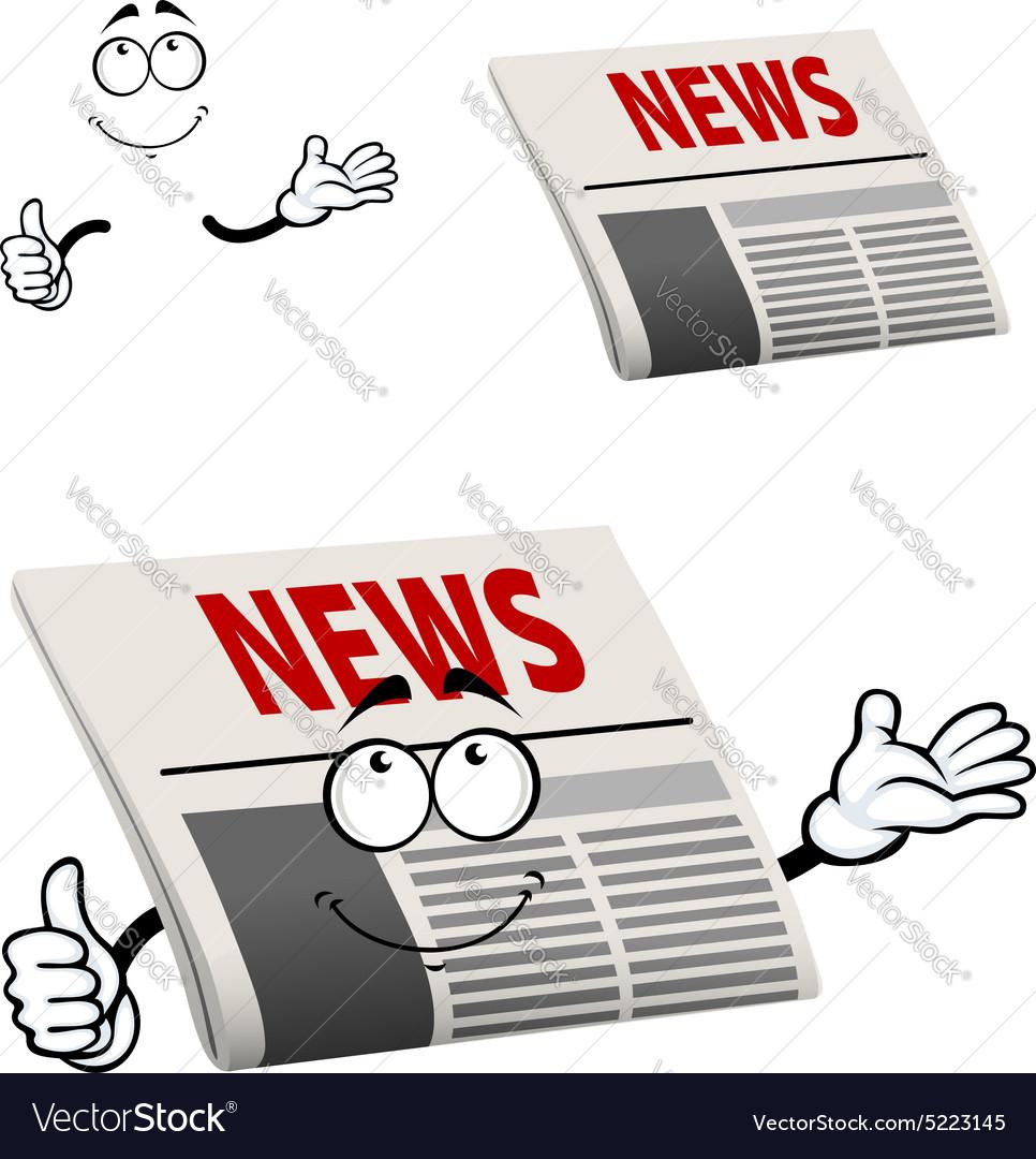 Newspaper character with news headline