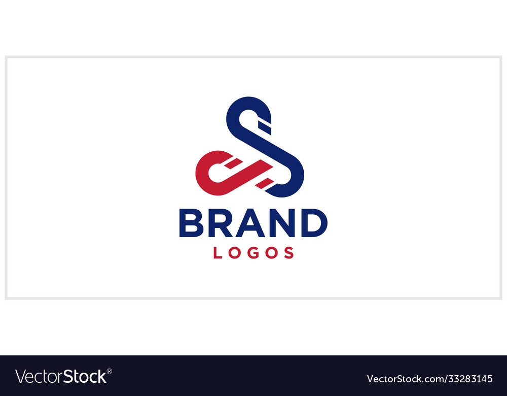 S loop infinity logo design template