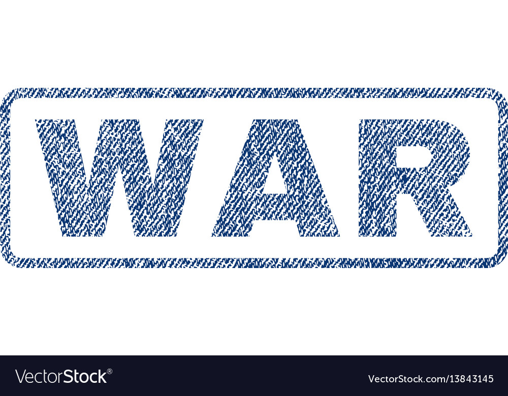 War textile stamp vector image