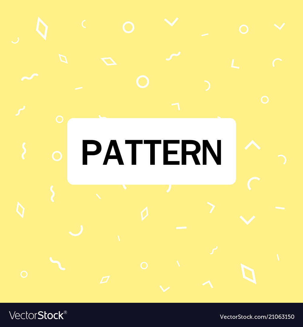 Abstract geometric pattern yellow background vector image