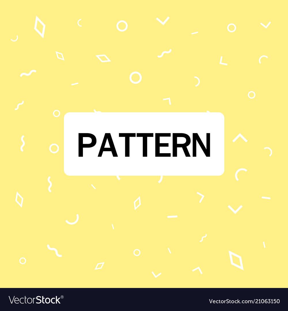 Abstract geometric pattern yellow background
