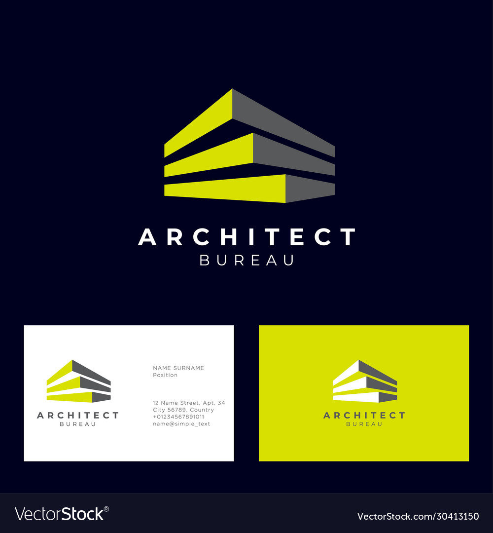 Architect bureau logo brick modules