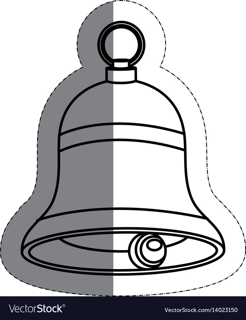 Bell musical instrument vector image