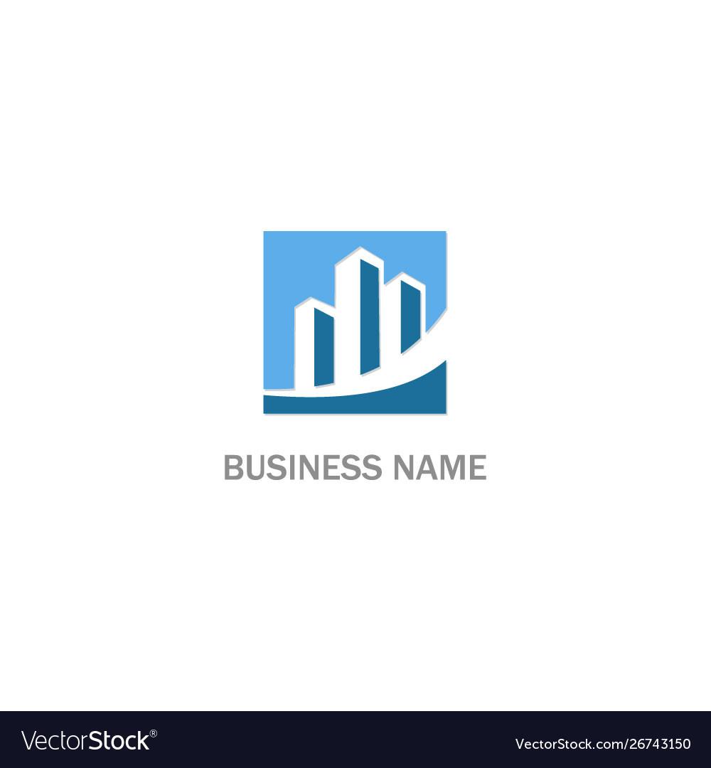 Building business finance company logo