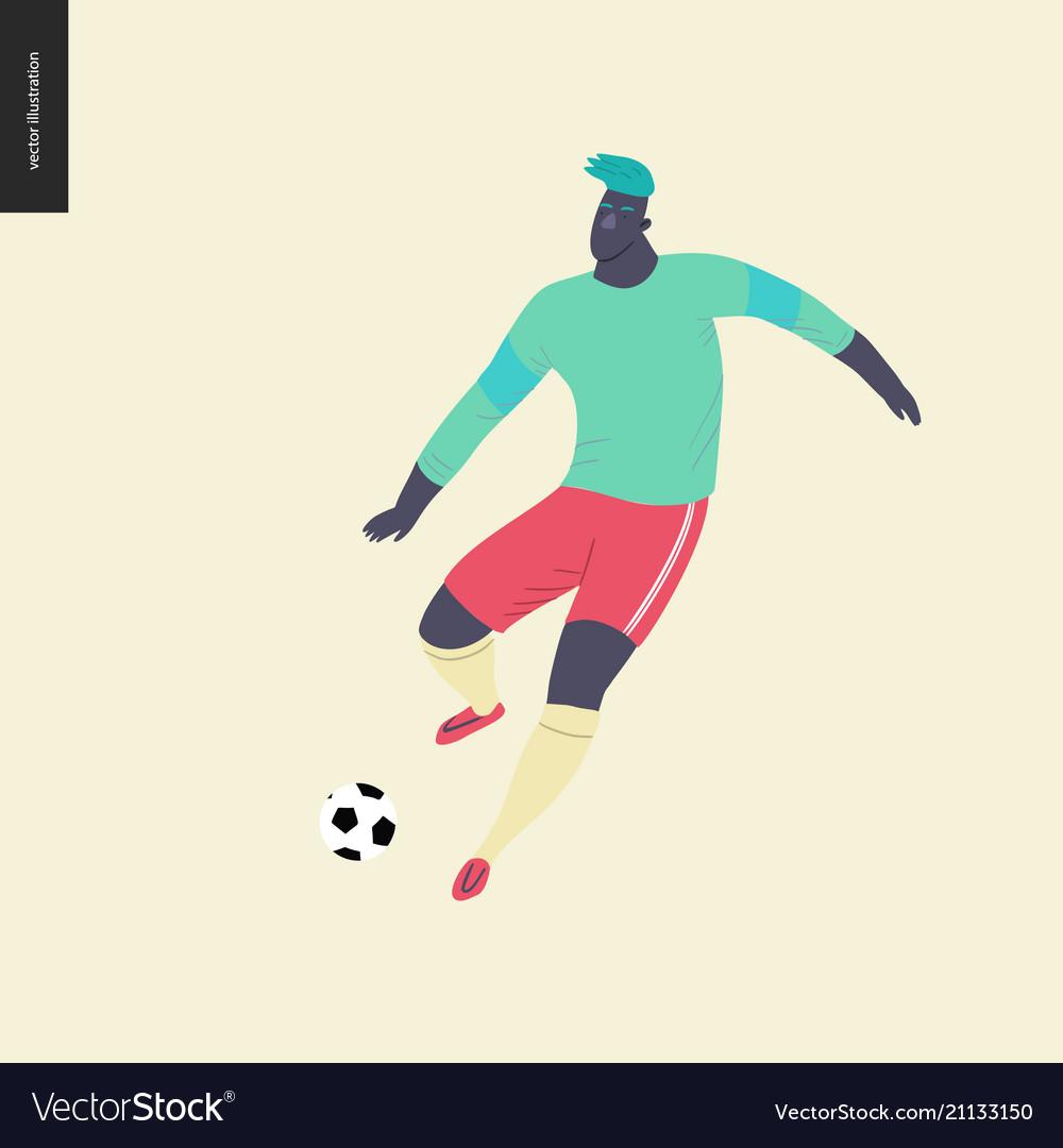 European football soccer player